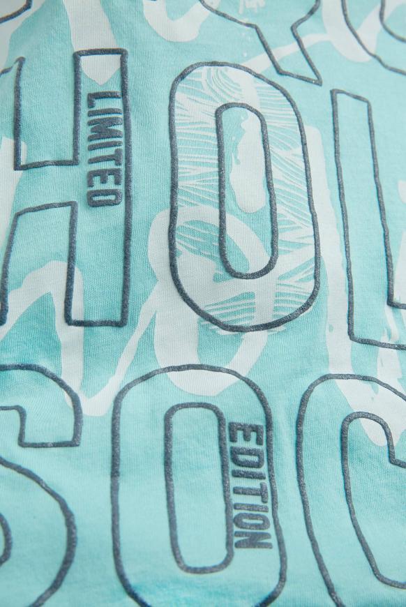 Top mit Glitter Puff Print