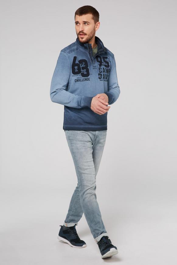 Troyer-Sweatshirt mit Strick-Patches und Artworks