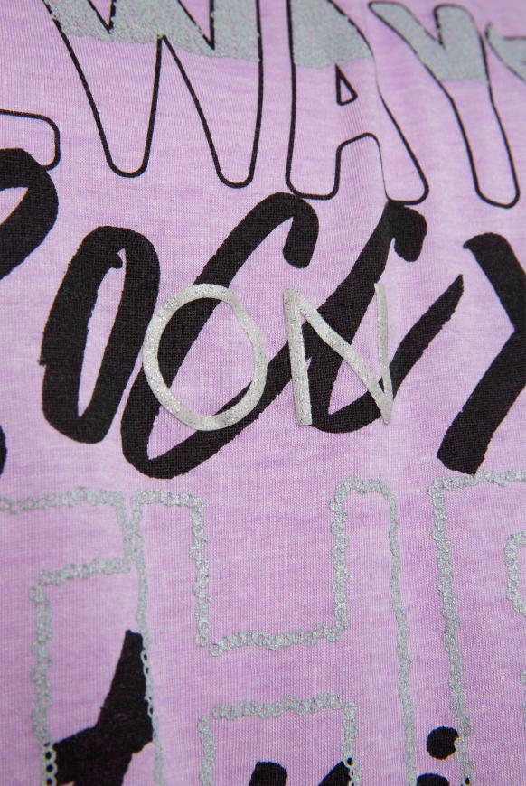Ausbrenner-Shirt mit Knotensaum und Artwork