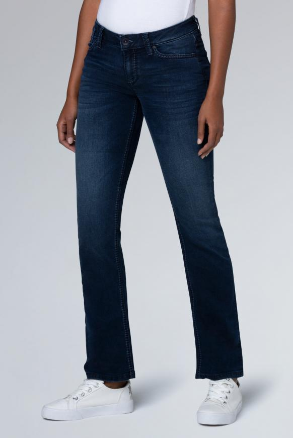 Boot Cut Jeans CO:LE mit Used-Optik Comfort Fit