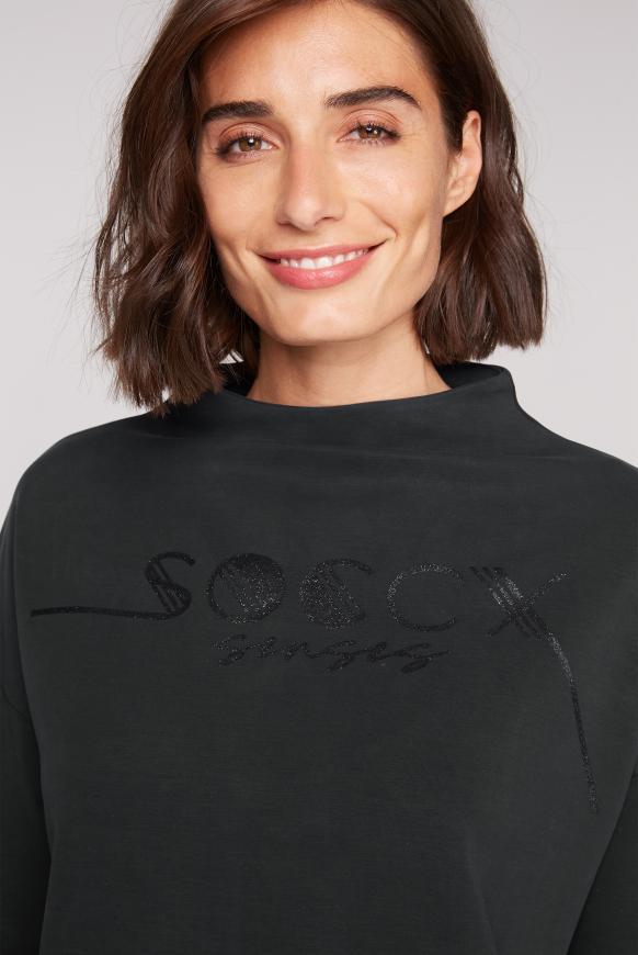 Boxy-Shirt mit Glitter Logo