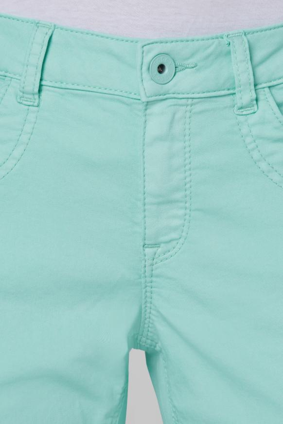 Coloured Jeansshorts DE:BY mit Streifentape