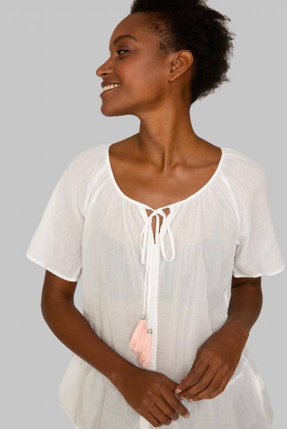 Crepe-Bluse im Boho-Style