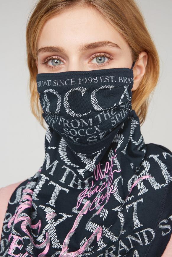 Maske mit Triangle-Tuch und Logo Artwork