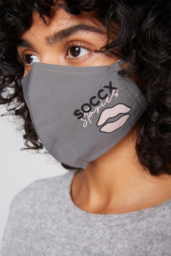 Mund-Nasen-Bedeckung mit Artwork