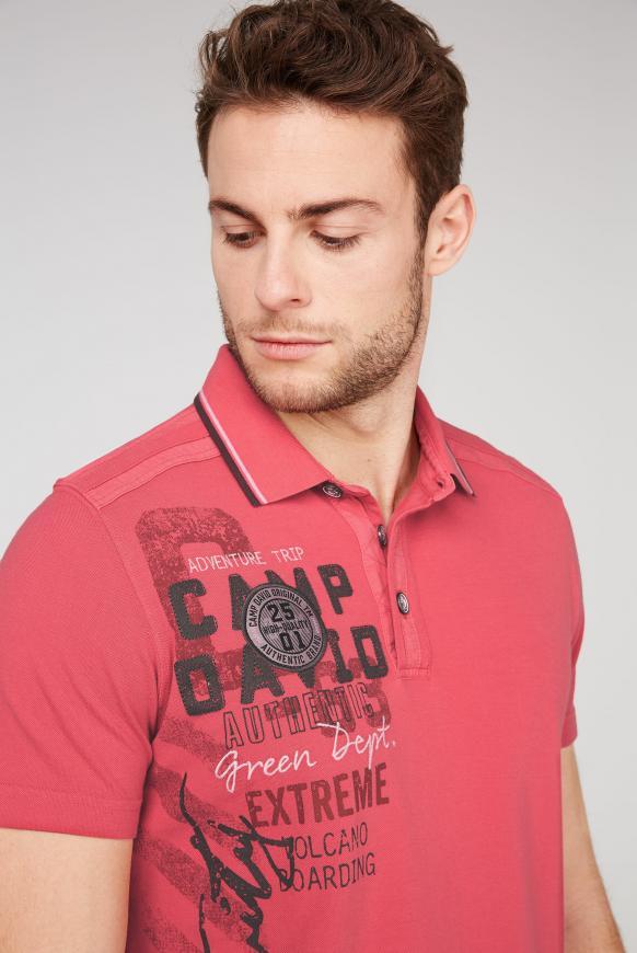 Poloshirt aus Pikee mit Rücken-Artwork
