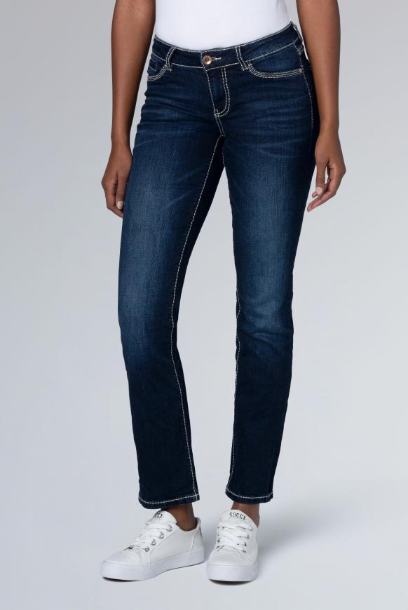 Regular Fit Jeans RO:MY mit Kontrastnähten