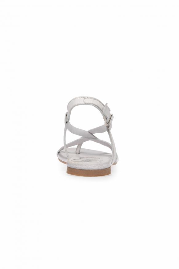 Sandale aus Leder mit Glitzersteinen