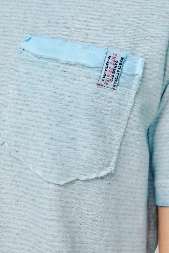 Streifenshirt Oil Dyed mit Back Print