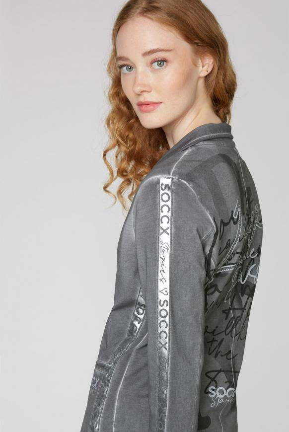 Sweatblazer mit Back Artwork und Logo-Prints