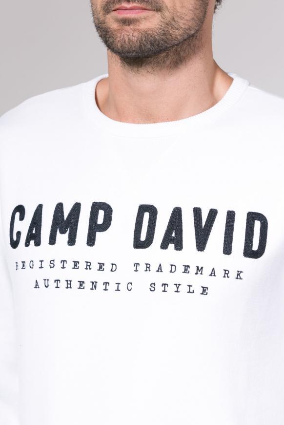 Sweatshirt mit Logo-Stickerei