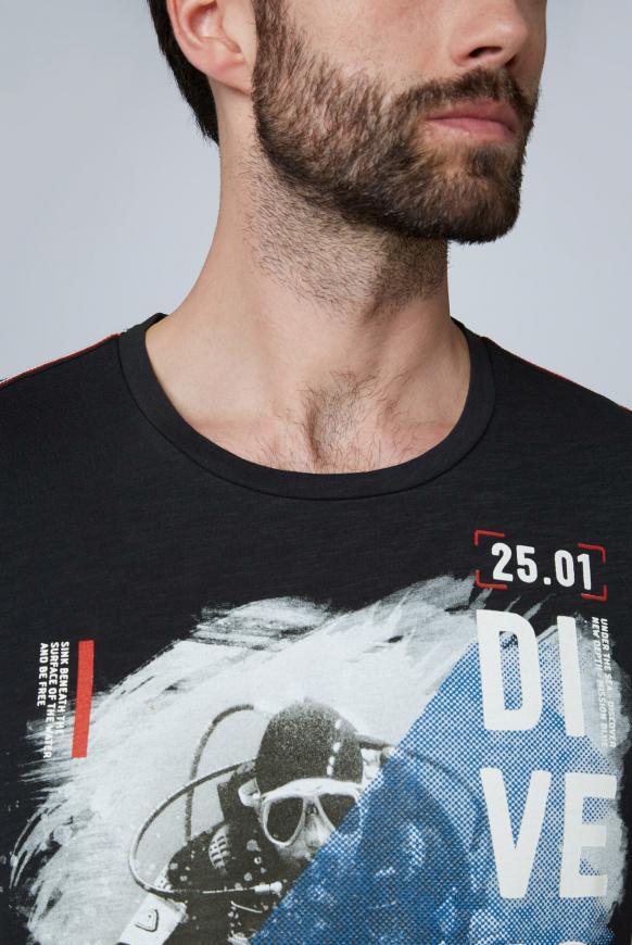T-Shirt aus Slub Jersey mit Foto-Print