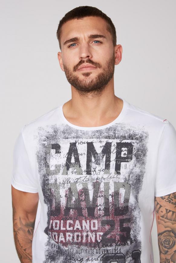 T-Shirt mit auffälligen Logo Prints
