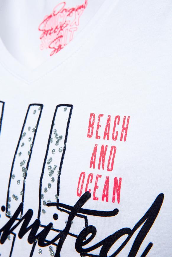 T-Shirt mit Dip-Dye-Effekt und Print-Artwork