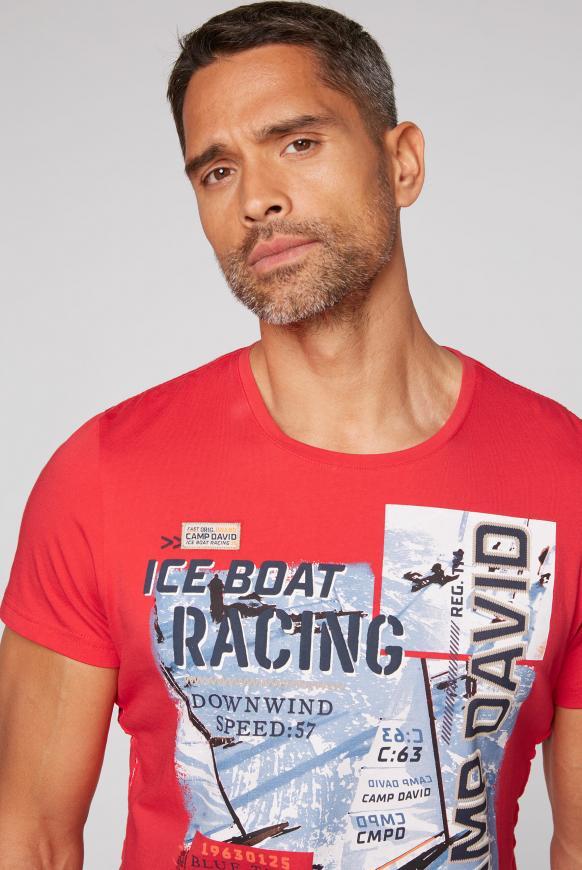 T-Shirt mit Photo- und Puff-Print