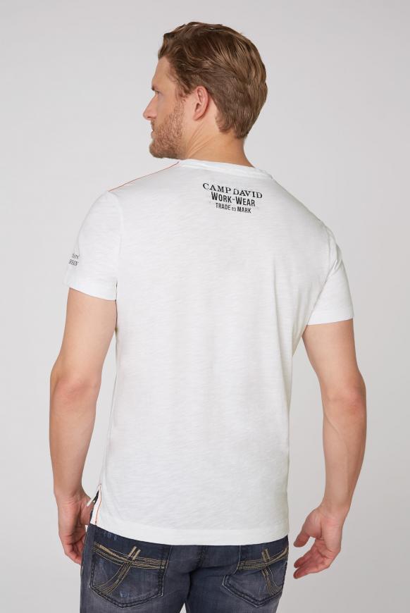 T-Shirt mit Photoprint und Stickereien