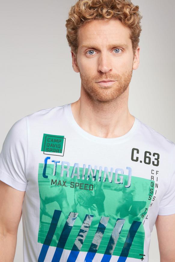 T-Shirt mit Rundhalsausschnitt und Artworks