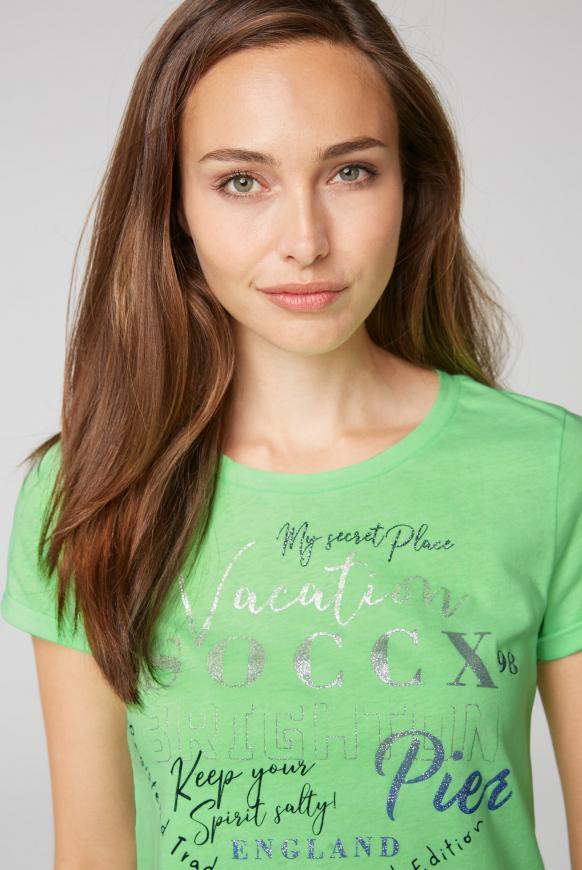 T-Shirt mit Rundhalsausschnitt und Frontprint