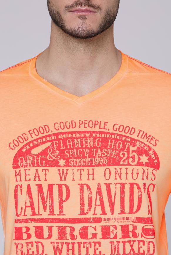 T-Shirt mit Used Print und Destroy-Effekten