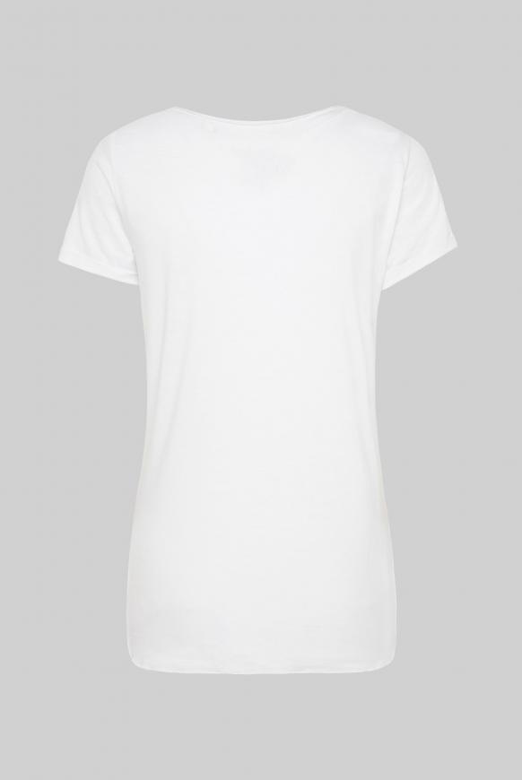 Ausbrenner-Shirt mit Knotensaum und Puff Print