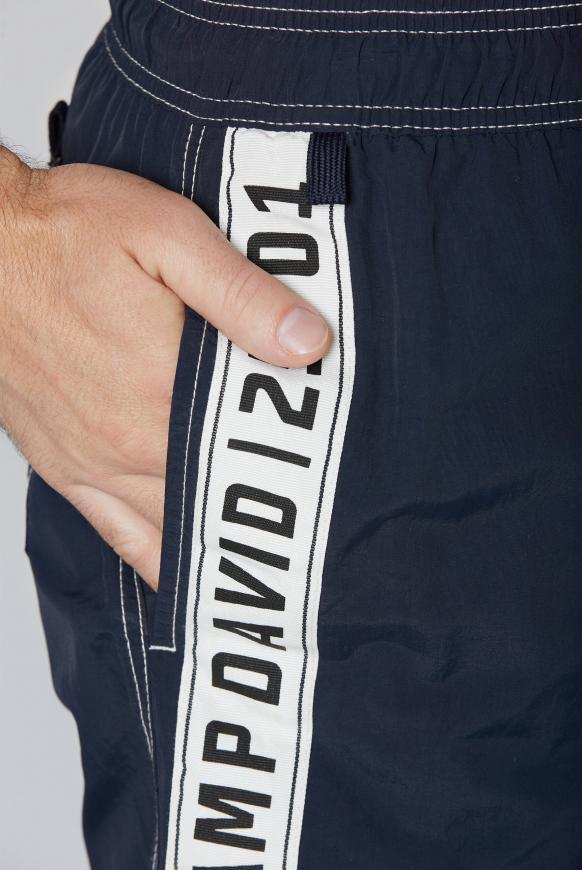 Badehose mit Logo-Tape an den Seiten