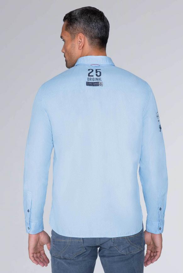 Baumwollhemd mit Stickereien, Regular Fit