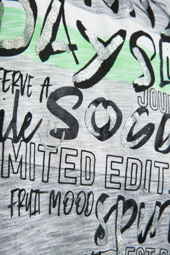 Buntes Streifenshirt mit Glitter Print
