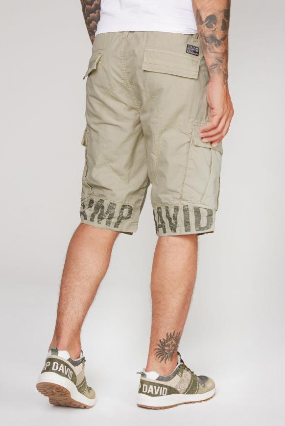 Cargo Shorts mit Logo-Applikationen