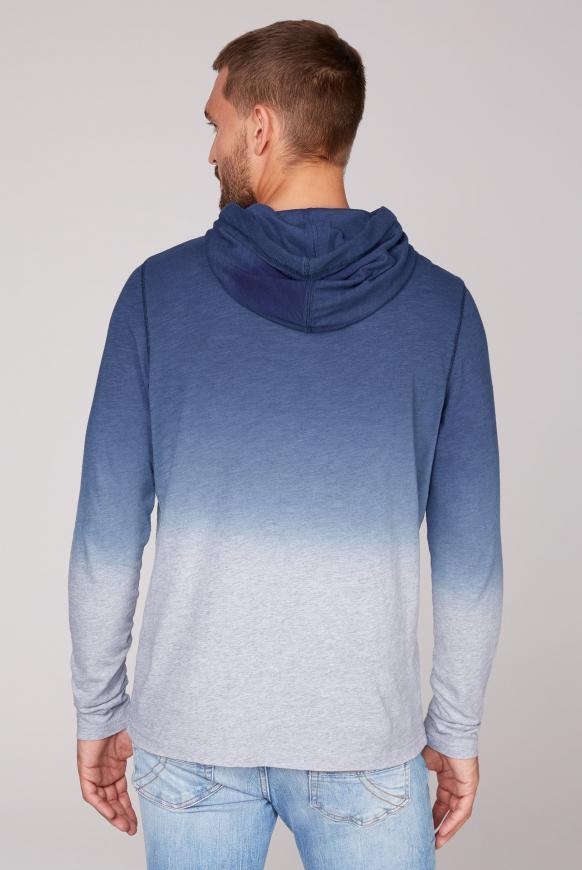 Dip Dye Kapuzenshirt mit Label Print