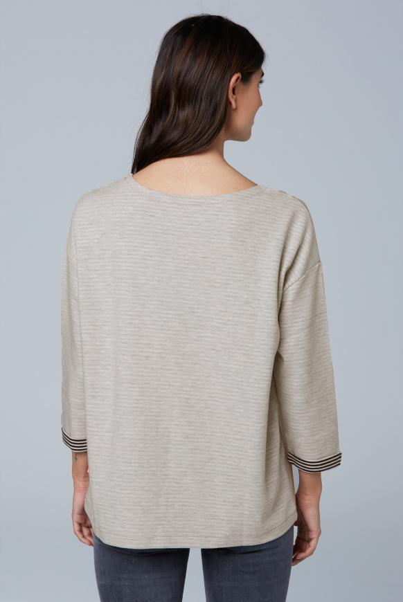 Doubleface Sweatshirt mit Frontprint