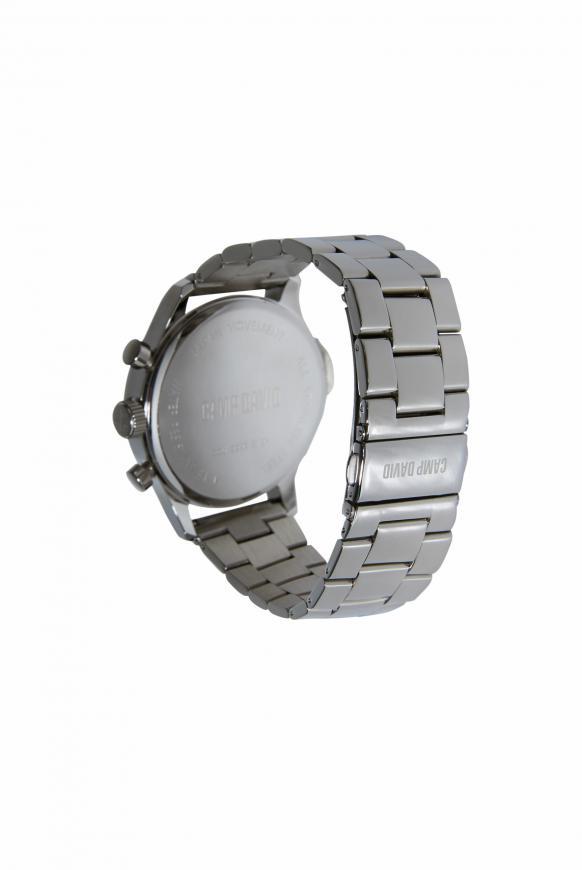Herrenuhr mit Gliederarmband aus Stahl