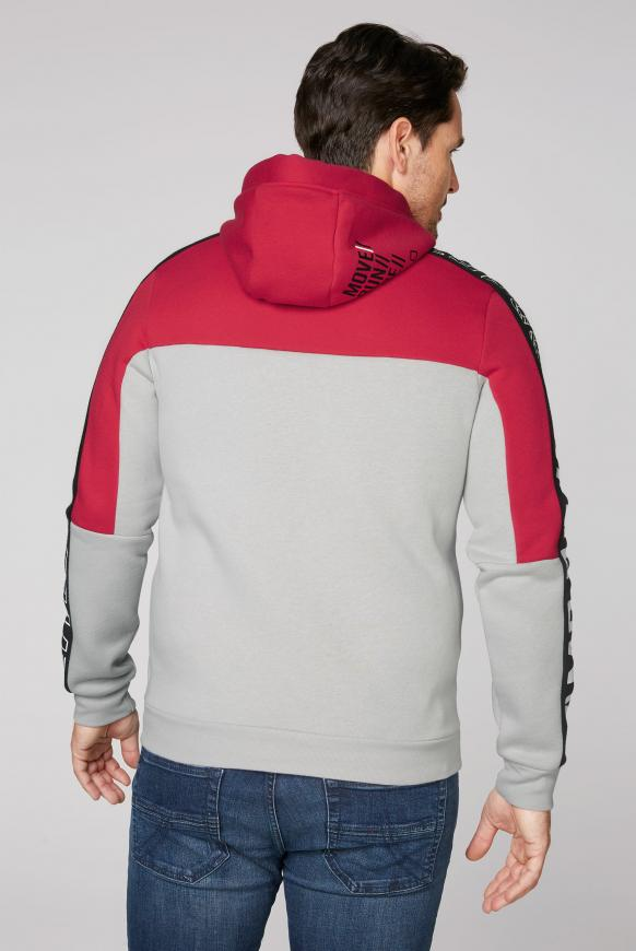 Hoodie mit Colour Blocking und Logo Prints