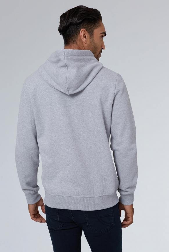 Hoodie mit großen Label-Applikationen