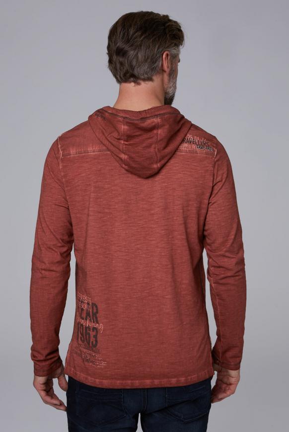 Kapuzenshirt mit Vintage-Färbung