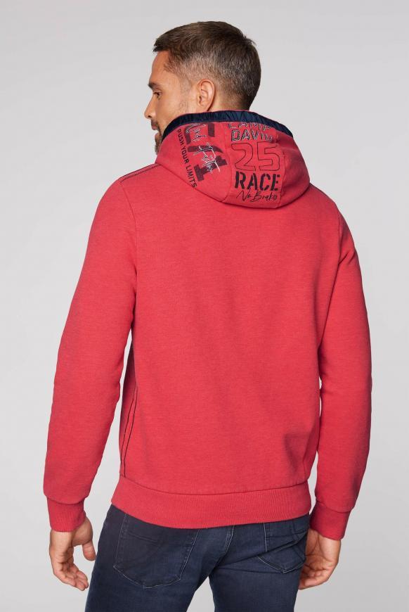 Kapuzensweater mit Label-Applikationen