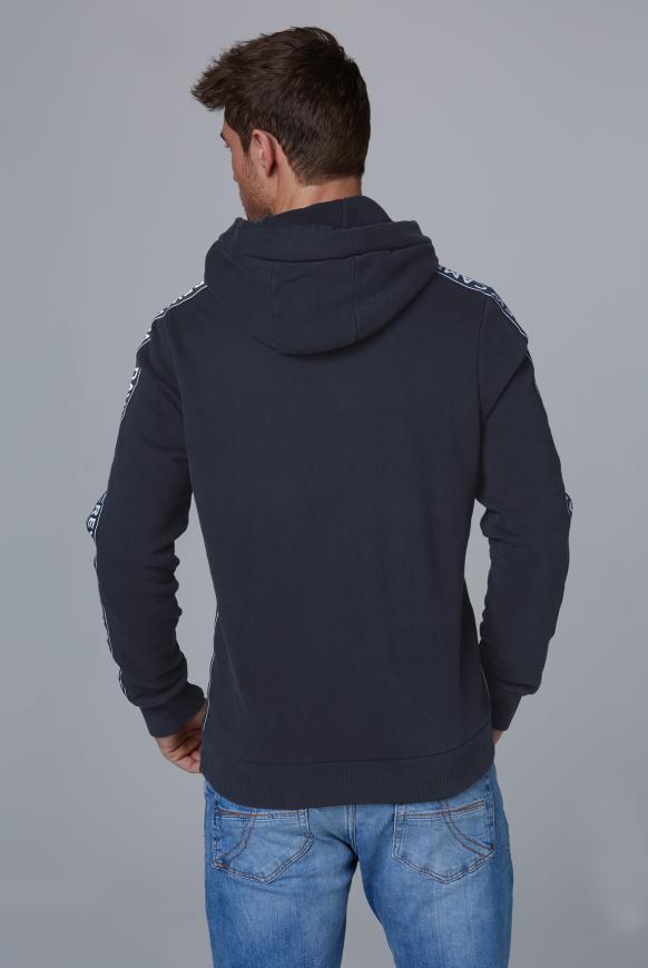 Kapuzensweatshirt mit Logo-Applikationen