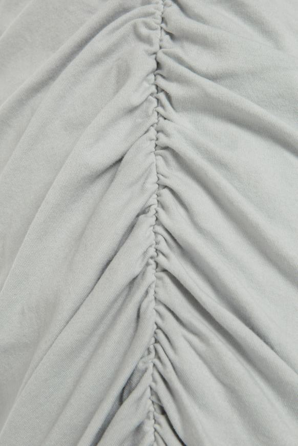 Kleid mit seitlicher Raffung und Logo Print
