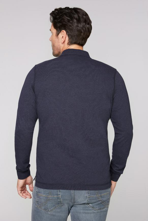 Langärmliges Poloshirt Melange