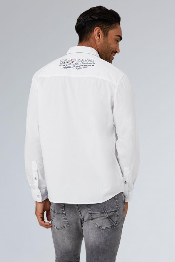 Langarmhemd mit Artworks, Regular Fit