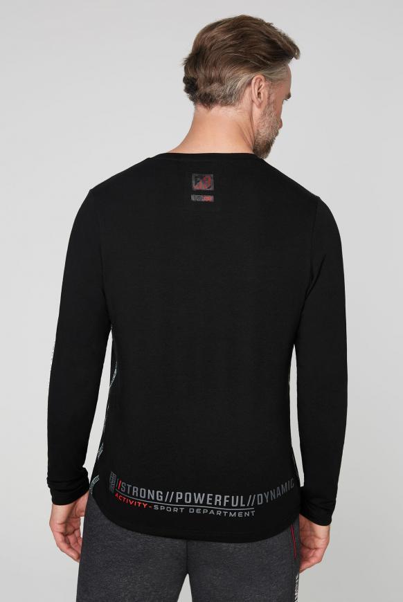 Langarmshirt mit Logo-Applikationen
