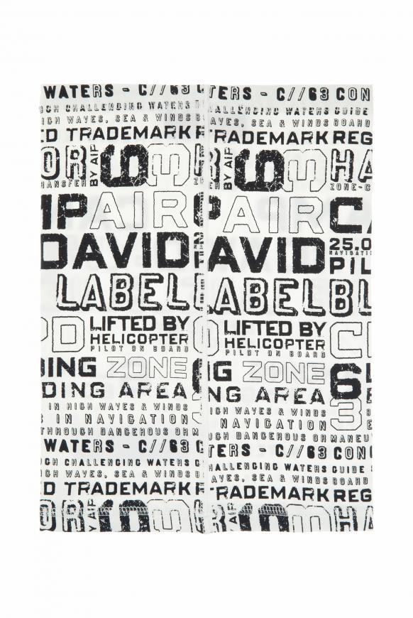 Loop-Schal-Maske mit Used Print