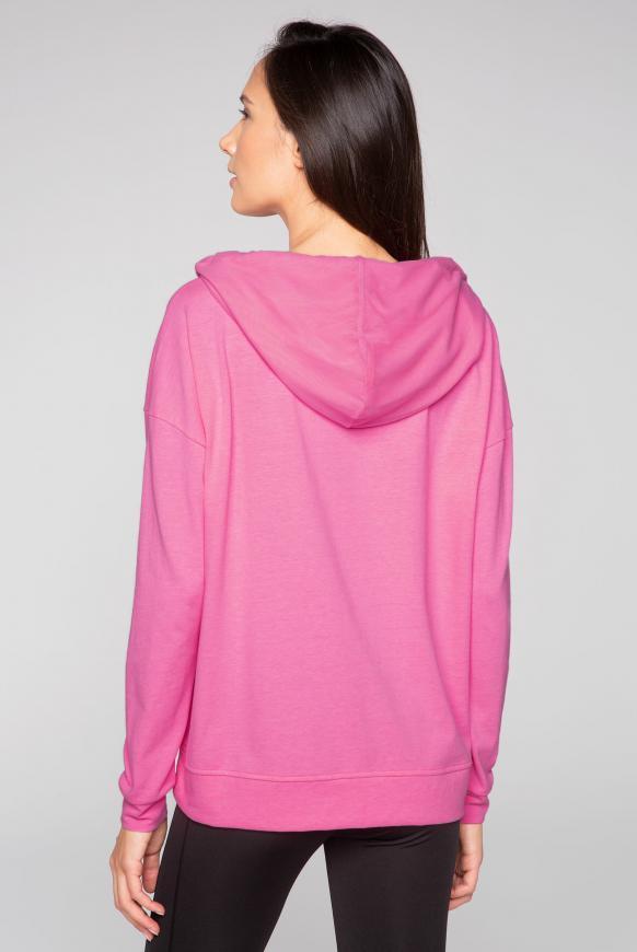 Oversized Sweatshirt mit Meshkapuze