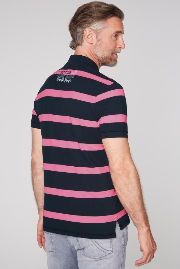 Poloshirt aus Pikee mit Blockstreifen