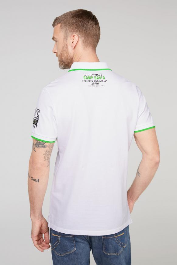 Poloshirt aus Pikee mit Label-Applikationen