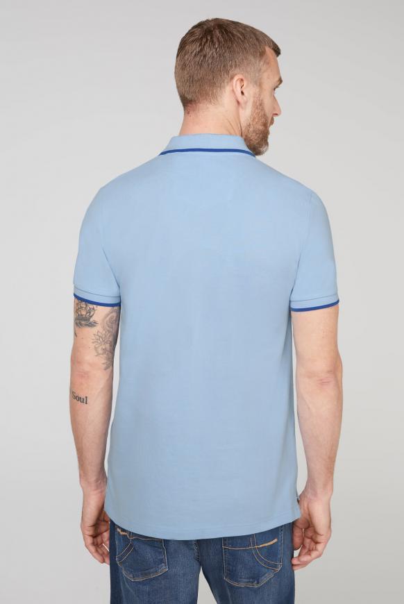 Poloshirt aus Pikee mit Logo Puff Print
