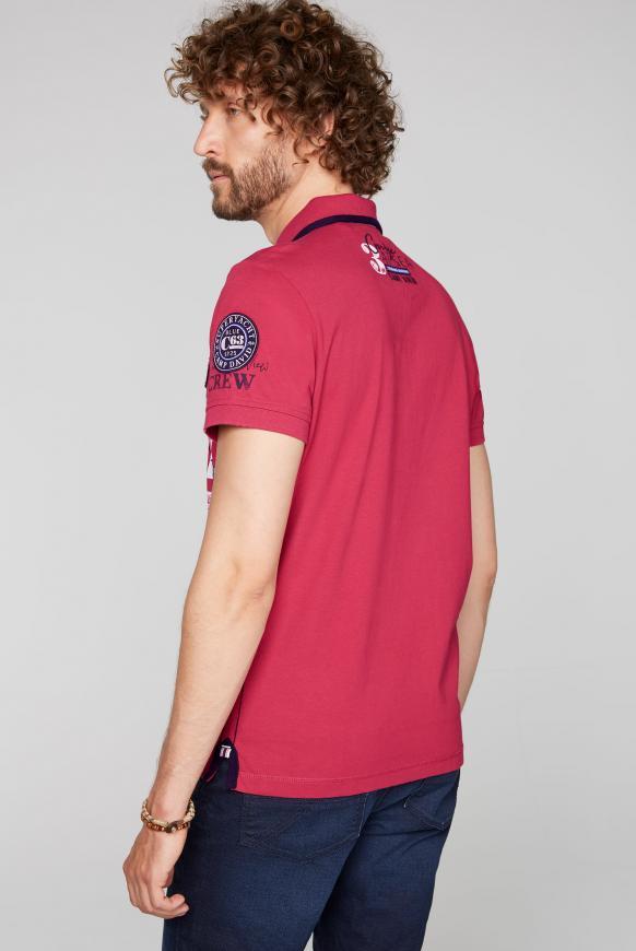 Poloshirt mit Artworks und Kontrast-Details