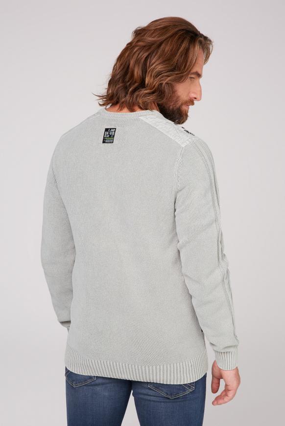 Pullover aus Chenille mit Label Patches