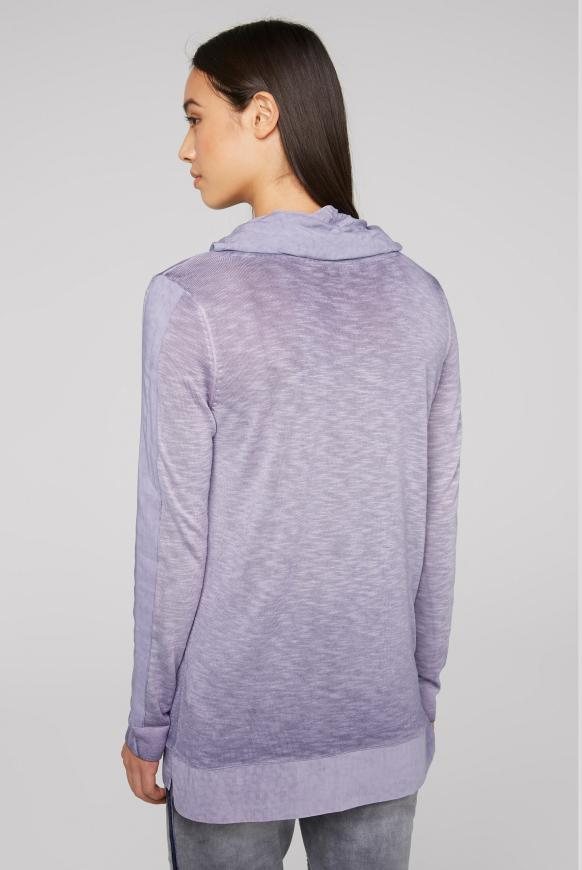 Pullover im Materialmix mit Artwork