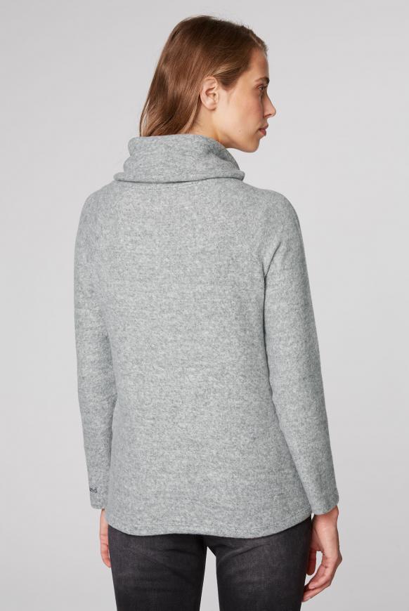 Pullover mit hohem Kragen und Artwork