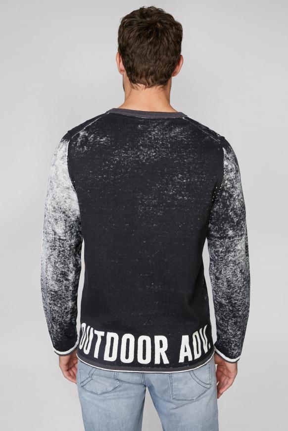 Pullover mit Inside Print